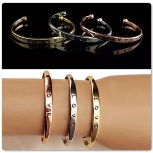 Pretty Girl Swag Jewelry Jewelry - ♨️SALE Love Cuff Bangle Bracelets